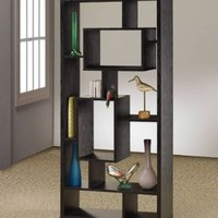Coaster Room Divider Shelf In Black Oak Finish