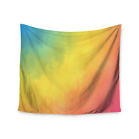"Fotios Pavlopoulos ""Watercolor Layers"" Rainbow Wall Tapestry"