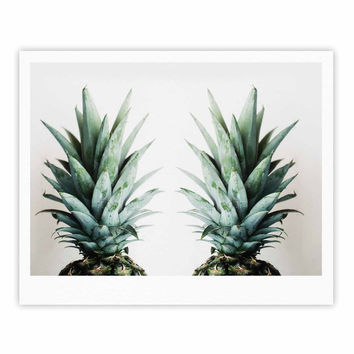 "Chelsea Victoria ""Two Pineapples"" Green Gold Fine Art Gallery Print"