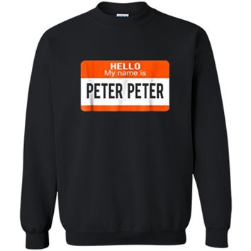 Peter Peter Pumpkin Eater Couples Halloween Costume  Printed Crewneck Pullover Sweatshirt