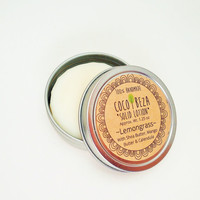 Natural LEMONGRASS LOTION BAR, Massage Bar with Organic Shea, Mango Butter, Calendula, Olive Oil, Great for Dry Chapped Skin