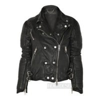 Indie Designs Lambskin Leather Zipper Motorcycle Jacket