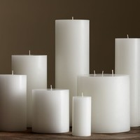 PB Pillar Candle - White