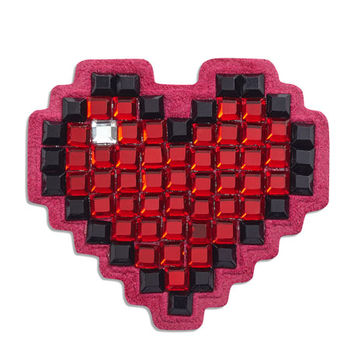 Anya Hindmarch Heart Crystal Sticker for Handbag, Red