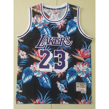 Lakers Mitchell & Ness 23 James Floral Fashion Jersey