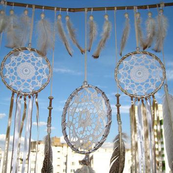 Large Dream Catcher, Crochet Dreamcatcher, Doily Dream Catcher, boho dreamcatcher, dreamcatchers, wedding decor, handmade, wall hanging
