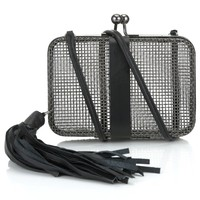 Black Night Brass Woman Cage Bag | Sara Battaglia | Avenue32