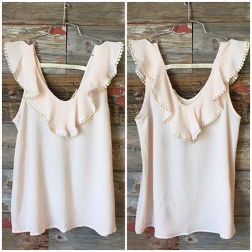 I Found You Ruffle Top: Blush