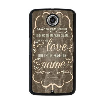 THE AVETT BROTHERS QUOTES Nexus 6 Case Cover