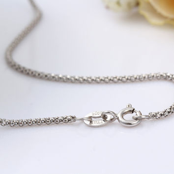 Bold 925 Sterling Silver Chain Necklaces Women Jewelry Girls Collier kolye 45cm 1.5mm 16-18inches Stamped Italy collares mujer