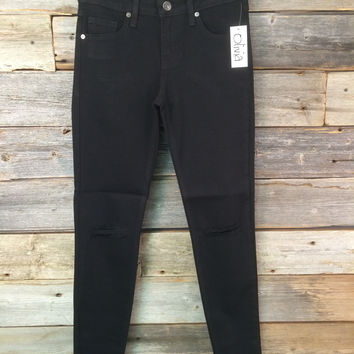 ONE SLIT SKINNY - BLACK
