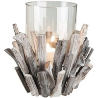 Foreside Wood & Glass Candle Holder | Nordstrom