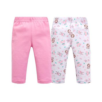Baby Leggings Cotton Elastic Waist Baby Girl Boy Pants Baby Trousers Clothing Panties for Newborns Print Monkey infantil Legging