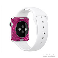 The Pink Snake Skin Texture Full Body Skin Set for the Apple Watch
