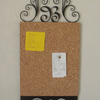 Corkboard Organizer Personalized 21 Inch Metal Art Wall Hanging