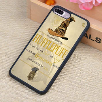 Hufflepuff Hogwarts Harry Potter Printed Soft TPU Skin Cell Phone Cases For iPhone 6 6S Plus 7 7 Plus 5 5S 5C SE 4 4S Back Cover