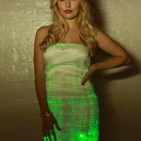 Fiber Optic Galaxy Dress: Color changing lights with remote for Burning Man, EDC, Ultra, Festival, Rave, costume, club, cocktail