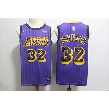 2019 LA Lakers 32 Magic Johnson City Edition Jersey