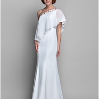A-line One Shoulder Chiffon Mother of the Bride Dress