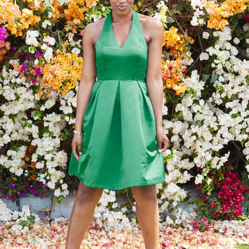 A Sight to Remember Fit and Flare Dress in Emerald
