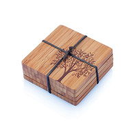 Coasters with Tree Motif (set of 4)