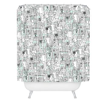 Sharon Turner Kitchen Town Shower Curtain