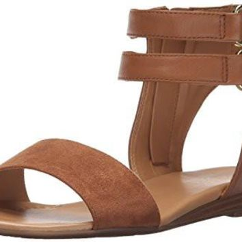 Women's L-greer GLADIATOR Sandal Franco Sarto Leather/Synthetic Fringe detail