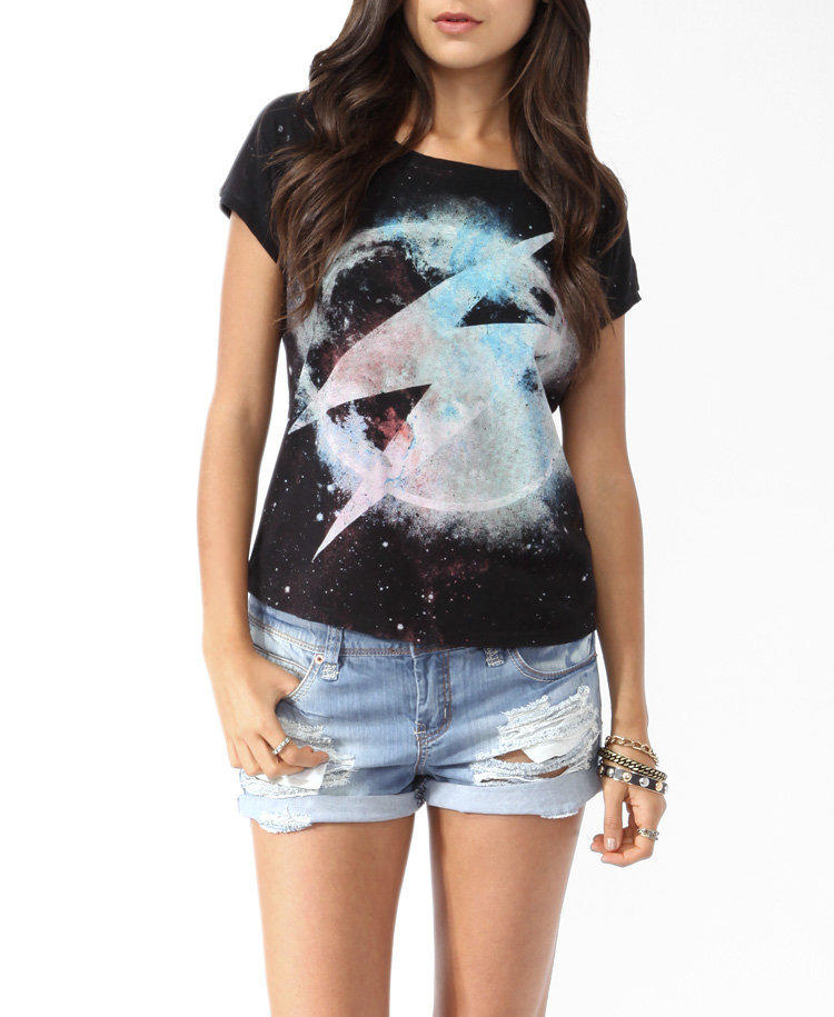Cosmic Lightning Bolt Top