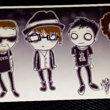 fall out boy. fan art. patrick stump. pete wentz. art print. joe trohman. andy hurley. fob. cute. bandom.