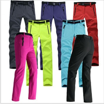 high quality brand sports pants -2015 New 9 colors  waterproof windproof  Outdoor sports pants Trousers women pants Hiking