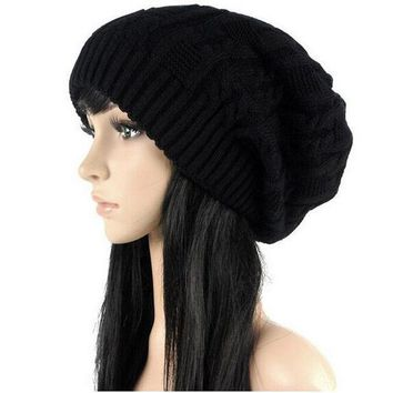 Sell Like Hot Cakes Fashion Caps Warm Autumn Winter Knitted Hats For Women Stripes Double Deck Skullies Men's Beanies 6 Colors