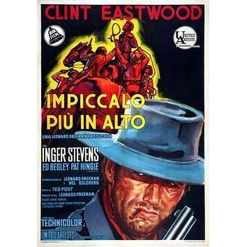 Hang Em High Italian Movie poster Metal Sign Wall Art 8in x 12in