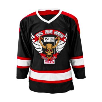 Four Color Demons Hockey Jersey