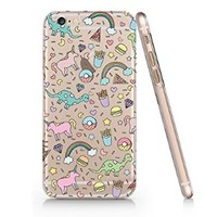 Unicorns Pizza Pattern Slim Iphone 6 Case, Clear Iphone 6 Case Plastic Hard Case Unique Design-Quindyshop (AMSL6)