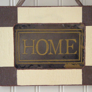 Home Welcome Sign Cottage Style Home Decor Antiqued Mirror