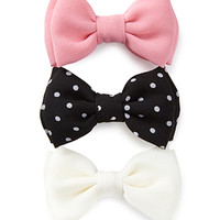 FOREVER 21 Mod Dots Hair Clip Set