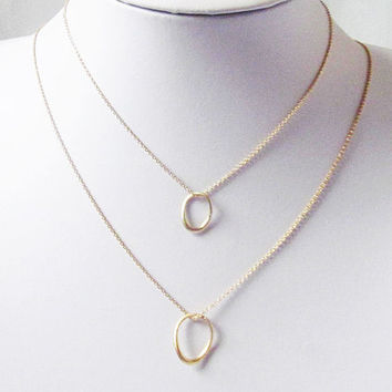 gold circle necklace eternity circle necklace