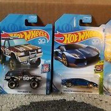 New 2018 Hot Wheels Kmart K-Day 4 Vehicle Exclusive Set Full Set