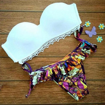 Fashion Lace print bikini