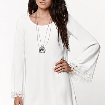 LA Hearts Crochet Trim Bell Sleeve Dress at PacSun.com
