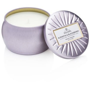 VOLUSPA AURANTIA & BLACKBERRY- MINI DECORATIVE TIN CANDLE