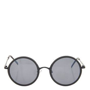 LOPEZ Flat Lens Round Sunglasses - Sunglasses - Bags & Accessories