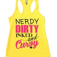NERDY DIRTY INKED And Curvy Womens Workout Tank Top