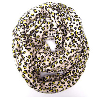 Trendy Leopard Eternity Infinity Loop Scarf Cute Leopard Circle Scarf Soft Stretchy Leopard Endless Loop Scarf Fun Womens Teens Scarf