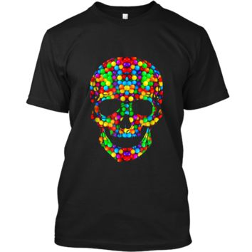 Candy Skull Sugar  Day Of The Dead Custom Ultra Cotton