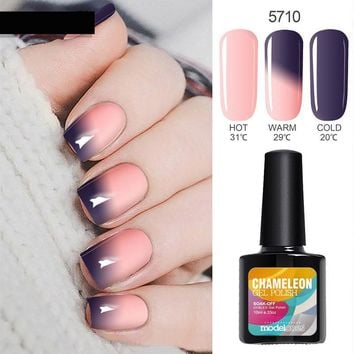 10ML Thermos Nail Gel Polish Change Color Temperature UV Nail Gel Polish Thermal UV Gel Nail Varnish Long Lasting Gel