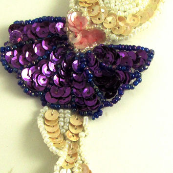 "Ballerina with Purple Tutu 5"" x 2.5"""