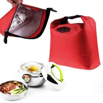 ICIKW Fashion Portable Thermal Insulated Lunch Bag Cooler Lunchbox Storage Bag Lady Carry Picinic Food Tote Insulation Package