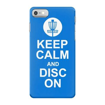 keep calm and disc golf on target frisbee basket iPhone 7 Case