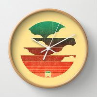 Go West Wall Clock by Budi Satria Kwan